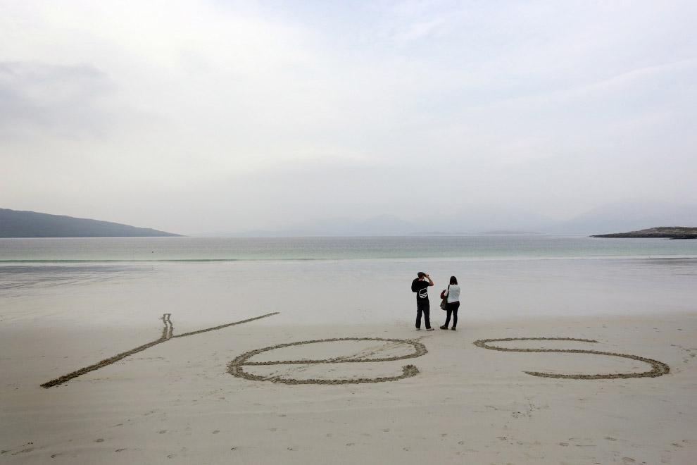 «Да» на пляже Гебридских островов