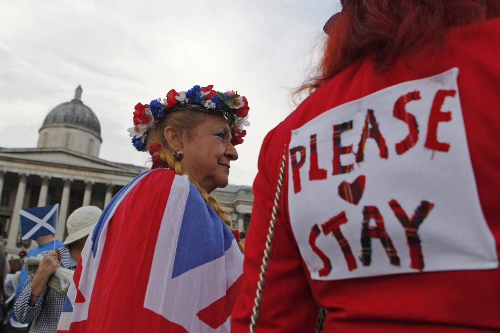 Митинг за единство на Трафальгарской площади