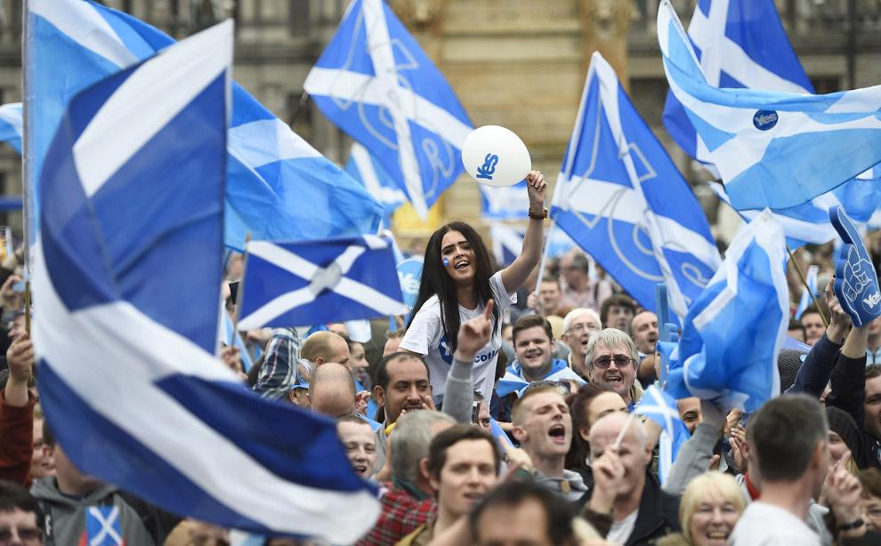 Митинг в Глазго в поддержку независимости