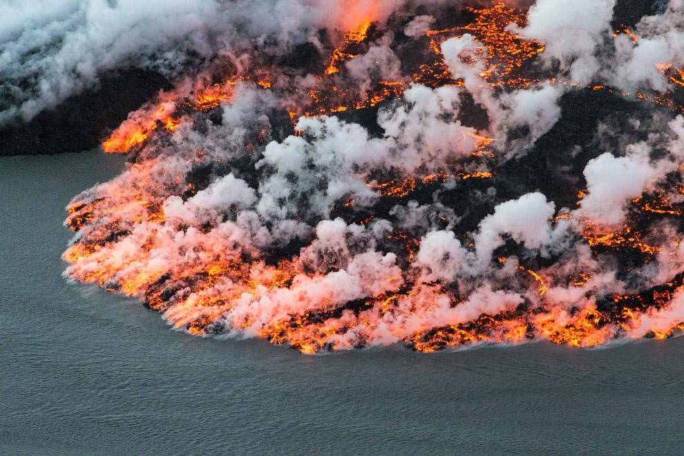 Извержение вулкана Баурдарбунга в Исландии