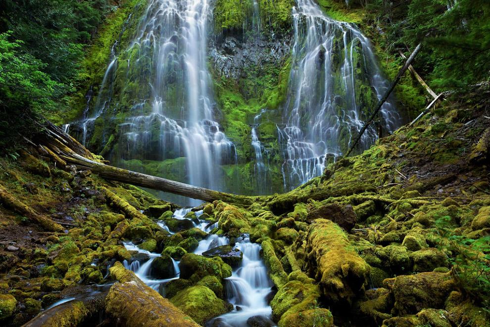 Водопады в штате Орегон