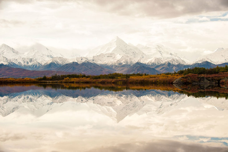 Аляскинский хребет и отражения