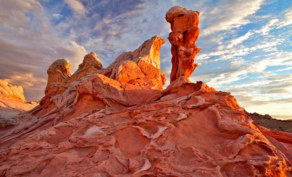 Окаменевшие песчаные дюны в Аризоне