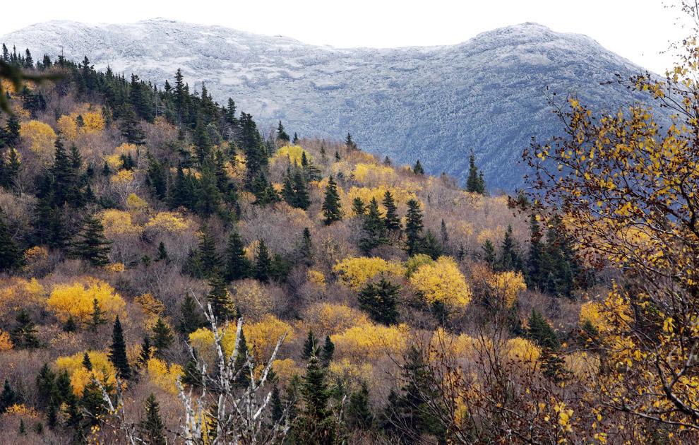 Осень в горах в штате Нью-Гемпшир