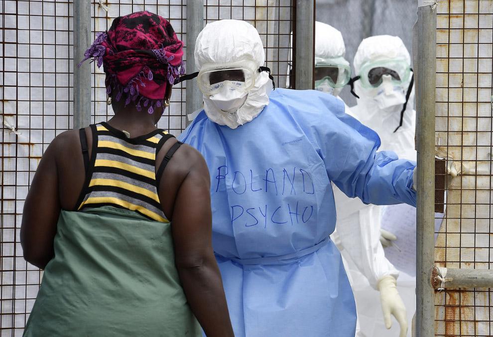 Женщина приехала в больницу к заболевшим родственникам, Либерия