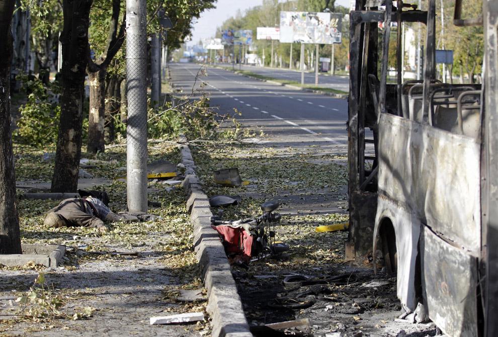 Убитый в Донецке
