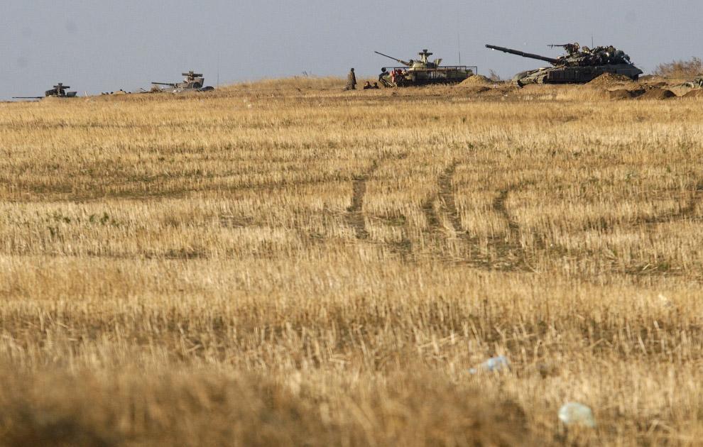 Украинская бронетехника в Донецкой области