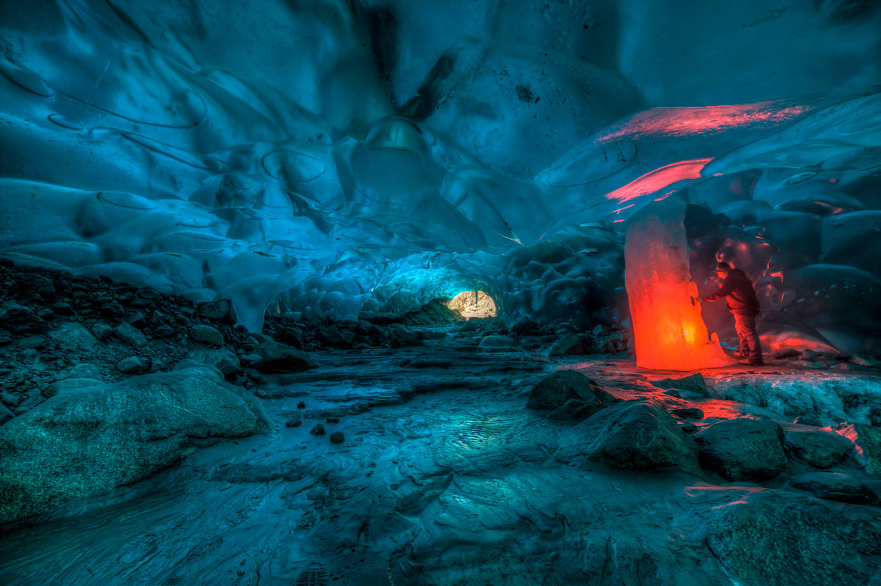 Incredible Alaskan ice cave