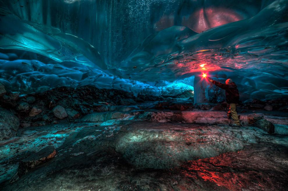 Incredible Alaskan ice cave