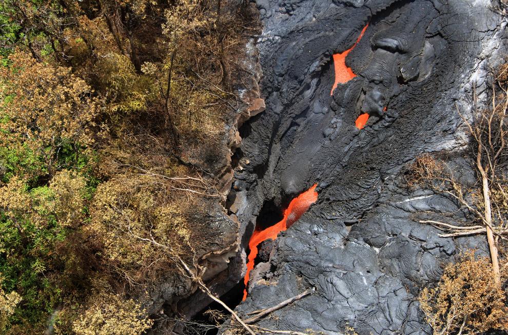 Это наша лава на Гавайях