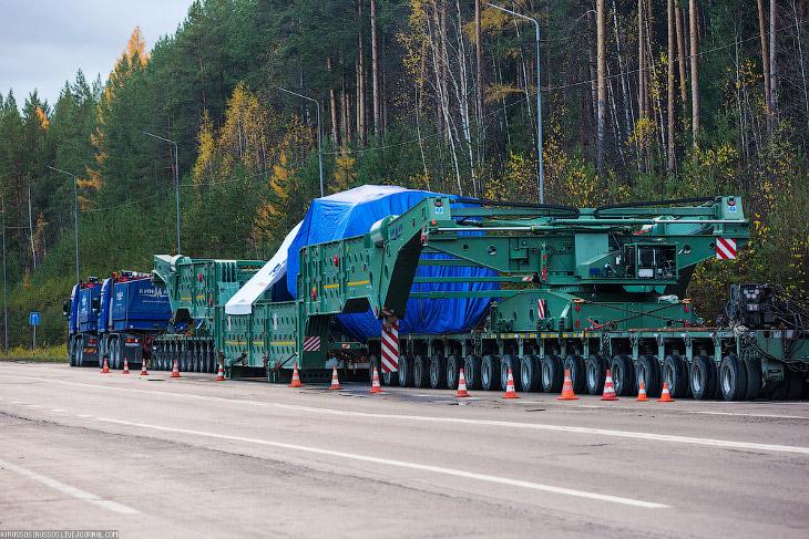 Как «Матильда» везла турбину весом 308 тонны