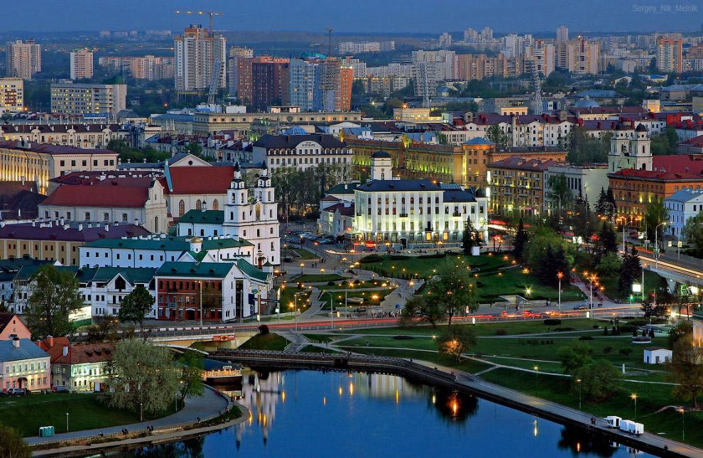 Верхний город, вид с отеля Беларусь