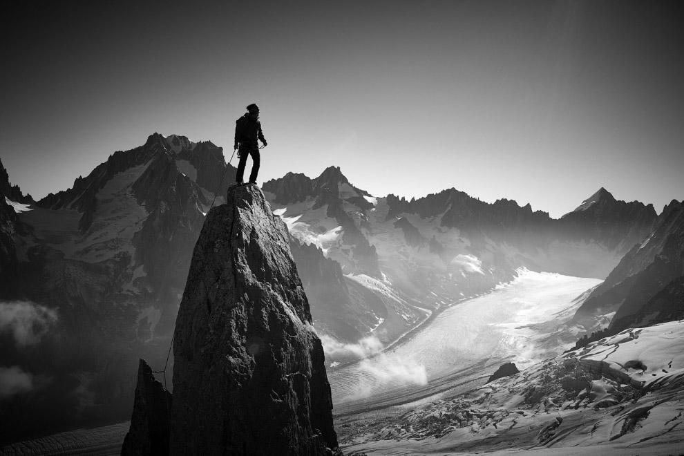 Альпинист, Шамони, Франция