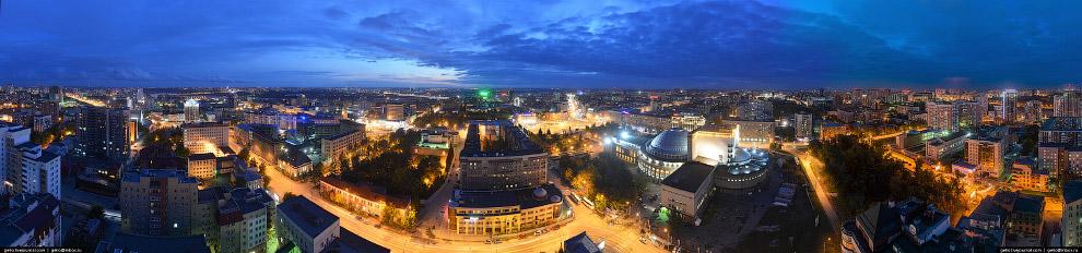 Главная панорама Новосибирска