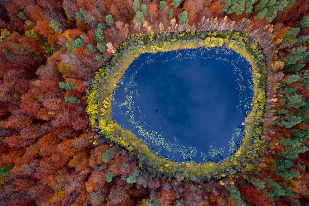 Осенняя Польша с высоты