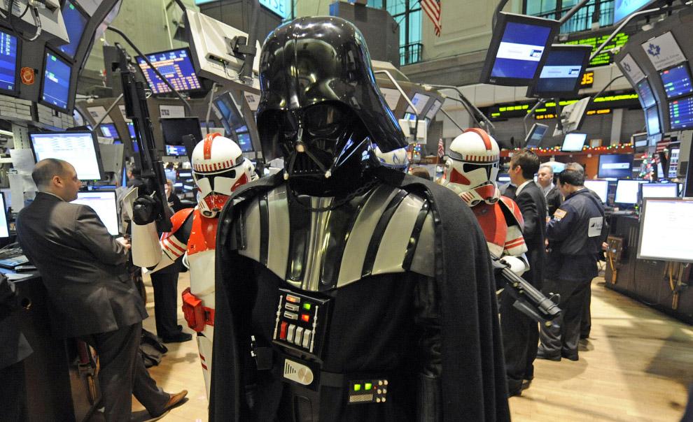 Дарт Вейдер на фондовой бирже в Нью-Йорке