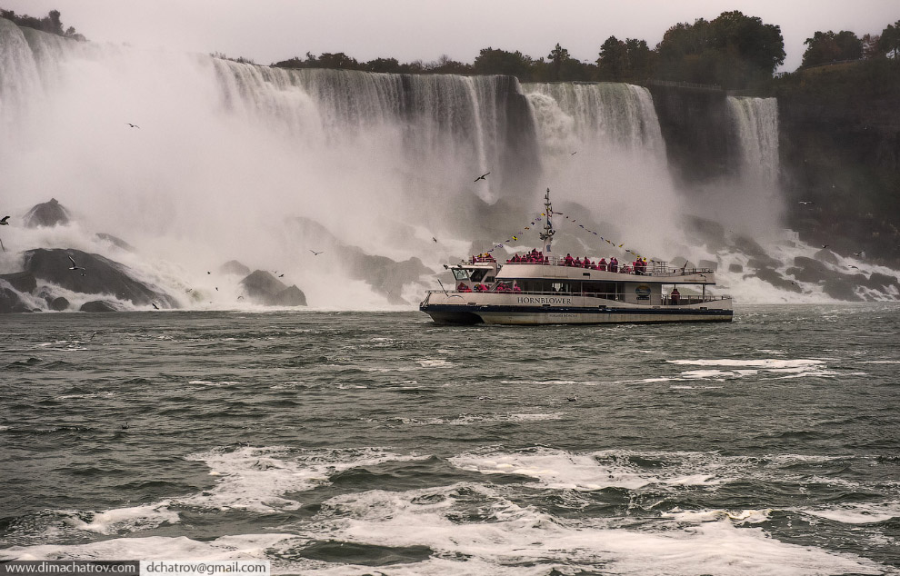 Ниагарский водопад. Вид изнутри