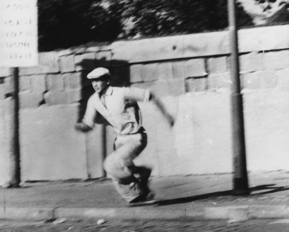 Попытка перебежать из из ГДР в Западный Берлин