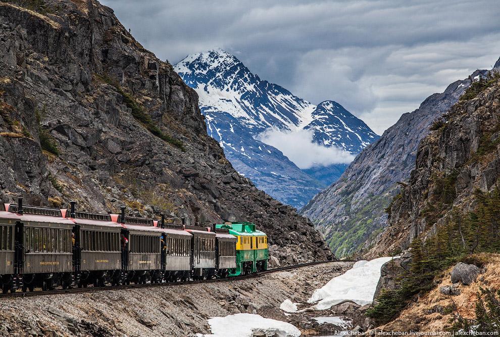 Дорога на Клондайк — самая красивая железная дорога Аляски