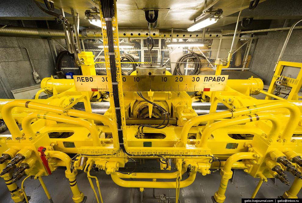 Управление направления движения ледокола осуществляется с помощью электрогидравлической рулевой машины