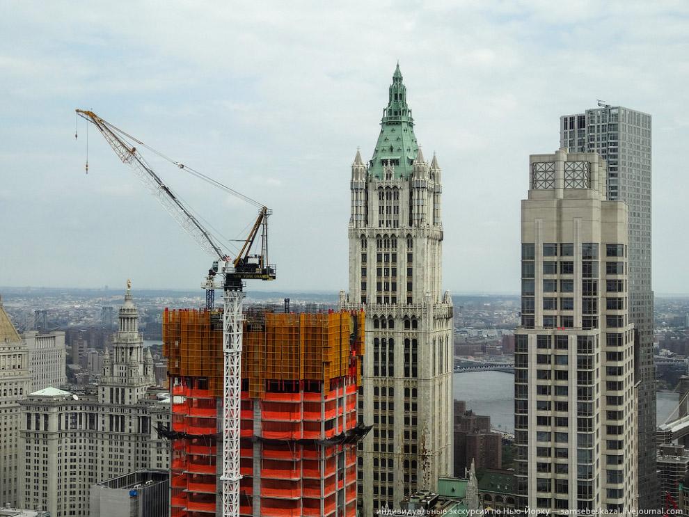57-этажный готический небоскреб Woolworth Building