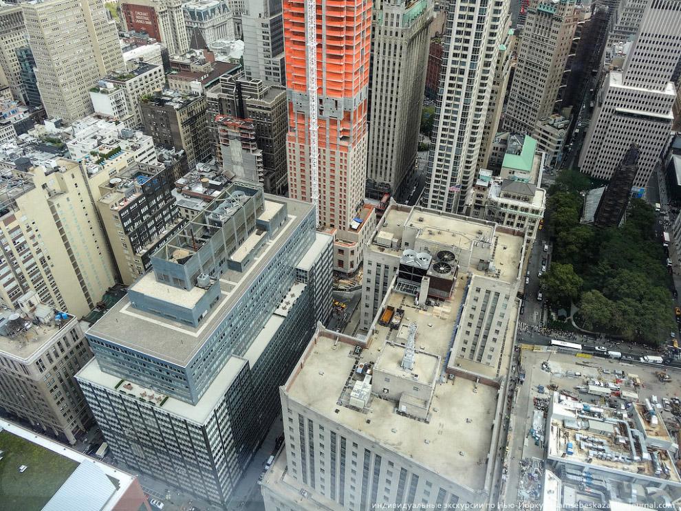 строительная площадка будущего 79-этажного небоскреба Two World Trade Center