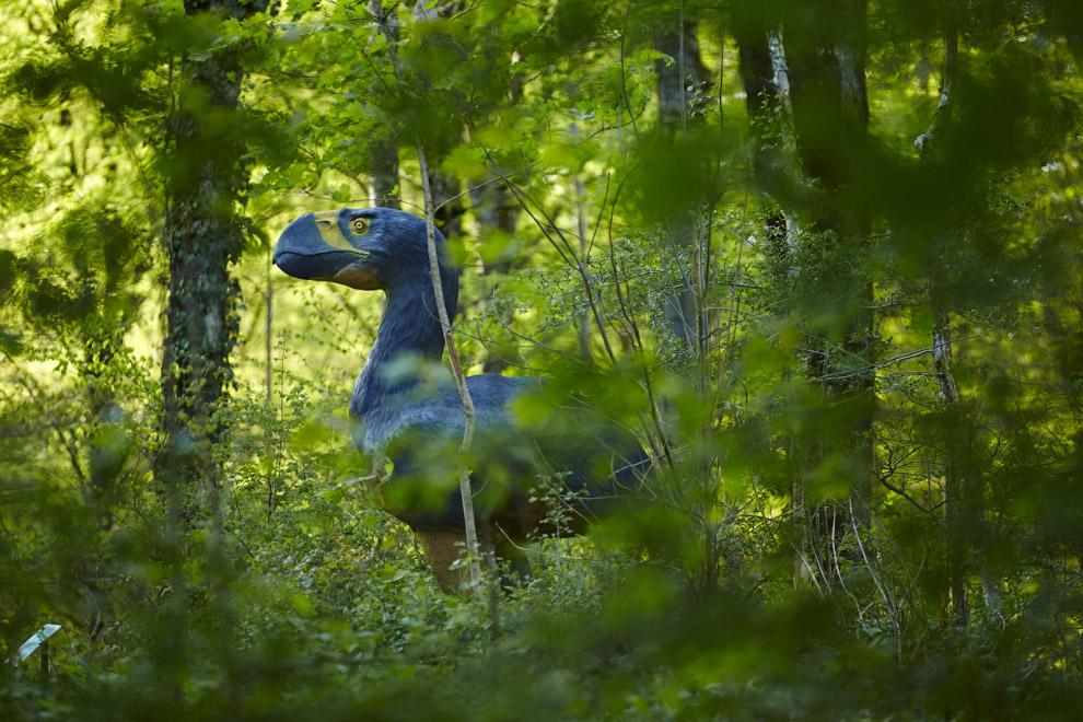 Тематический парк динозавров на границе Франции (спереди) и Швейцарии