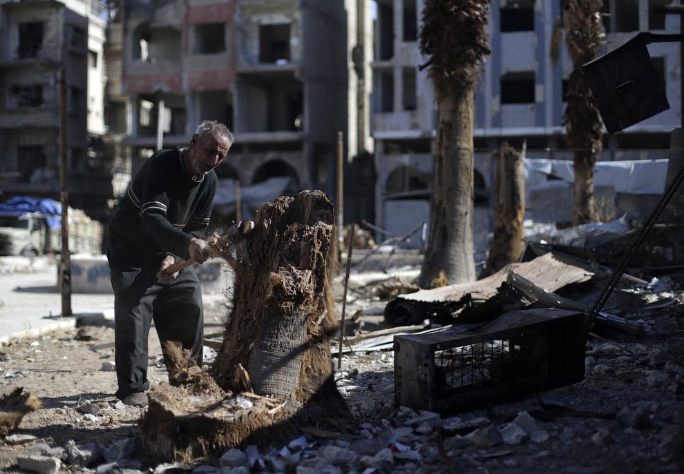 Разрушенный район Дамаска