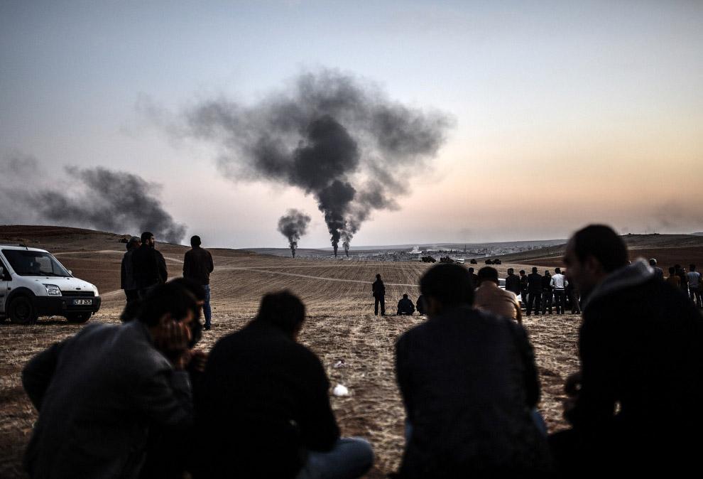 Театр военных действий в городе Кобани, Сирия