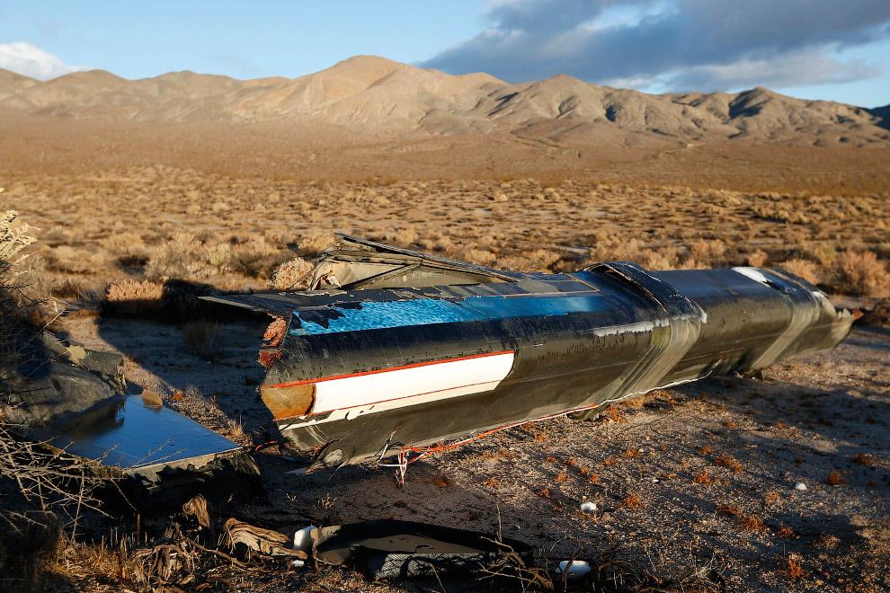 Обломки SpaceShipTwo компании Virgin Galactic