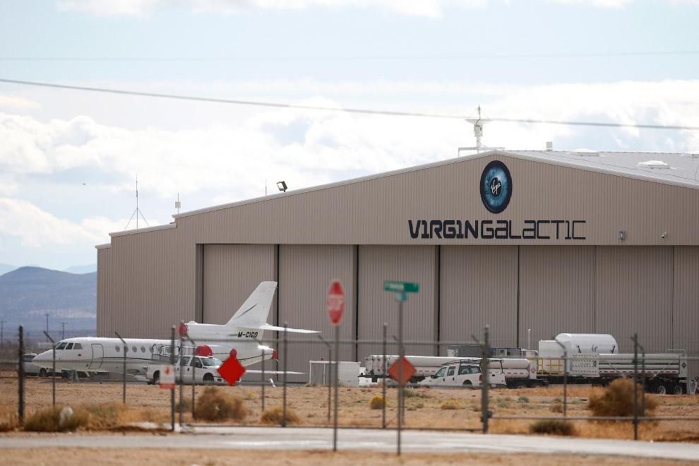 Ангар компании Virgin Galactic в пустыне Мохаве