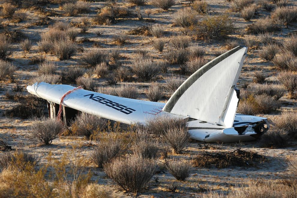 Часть крыла SpaceShipTwo