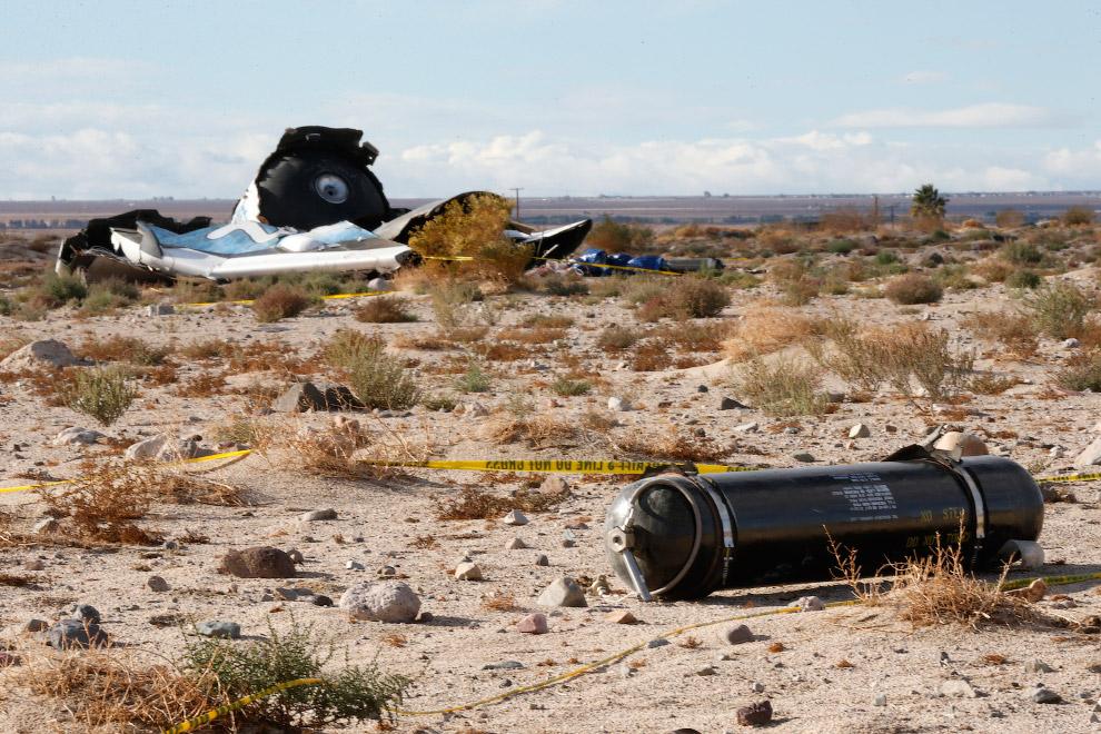 Американская космонавтика: крушение SpaceShipTwo компании Virgin Galactic