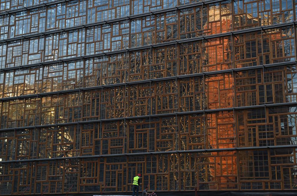 Строительная площадка новой штаб-квартиры Европейского Совета в Брюсселе