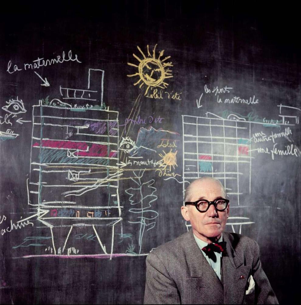 Ле Корбюзье на снимке Willy-Rizzo в 1954