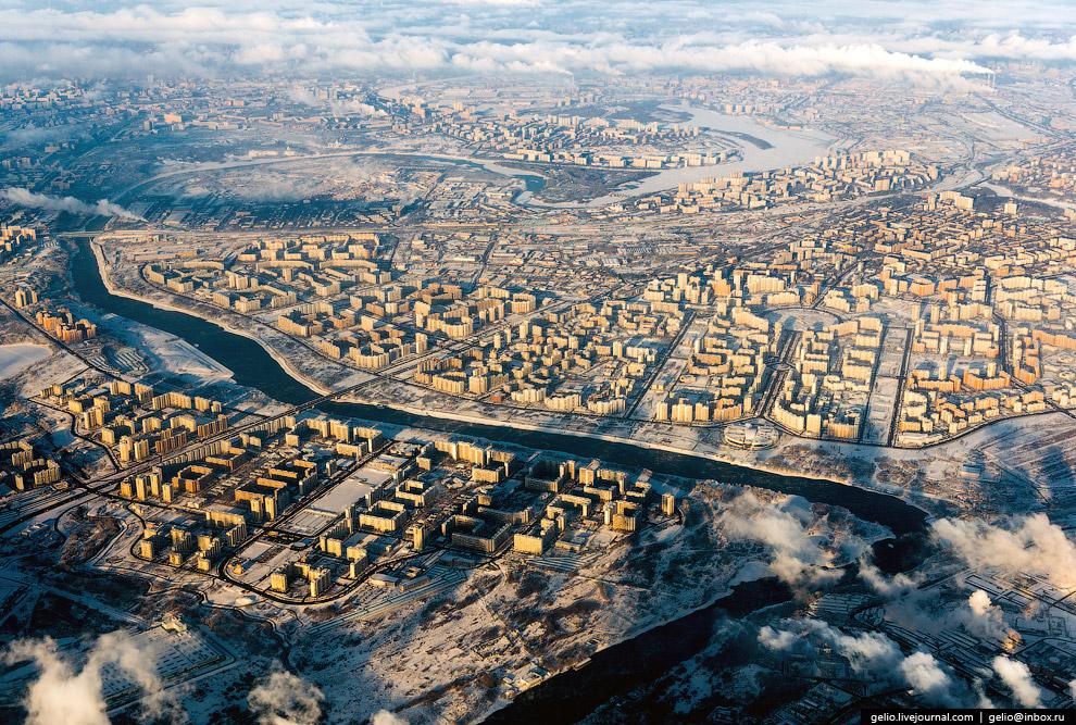 Зимняя Москва. Районы Марьино и Братеево