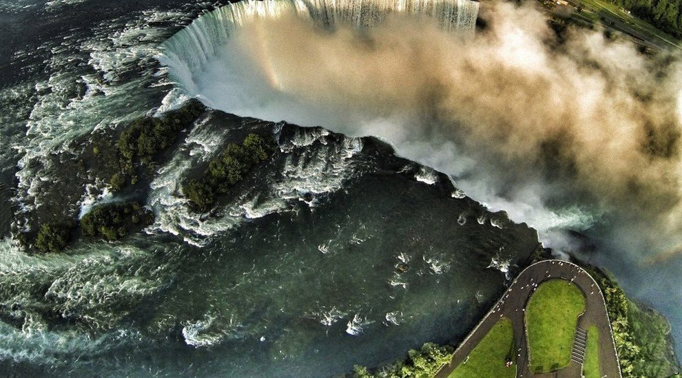 Ниагарской водопад, Канада