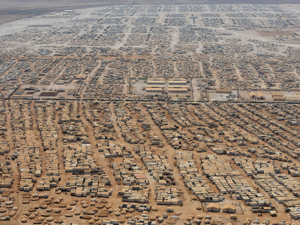 Лагерь беженцев недалеко от иорданского города Мафраке