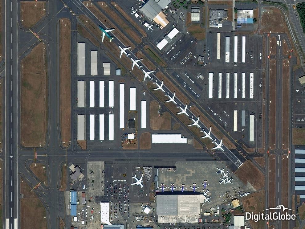 Самолеты. Город Эверетт, штат Вашингтон