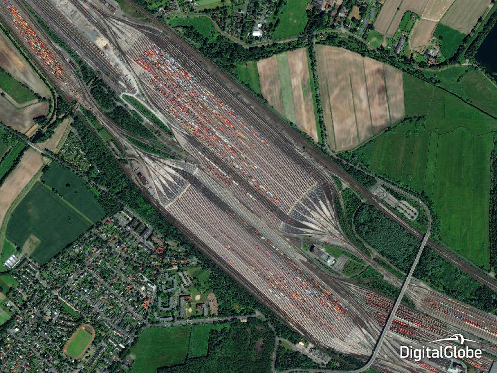 Железнодорожные линии. Maschen, Германия