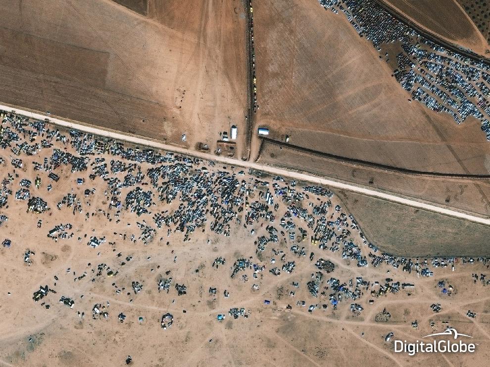 Лагерь беженцев в Сирии