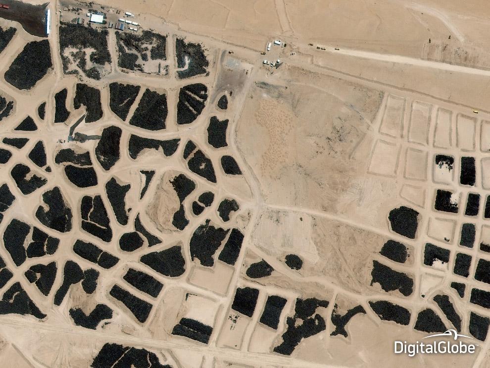 Крупнейшее в мире кладбище шин в Sulaibiya, Кувейт