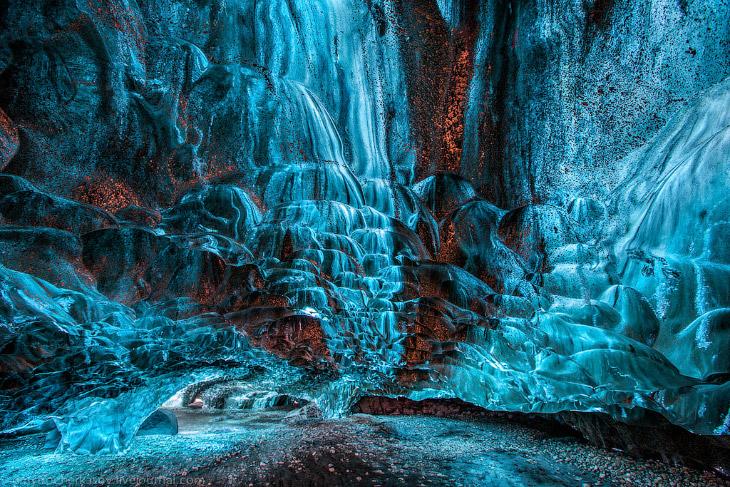 Исландия. Ледяные пещеры