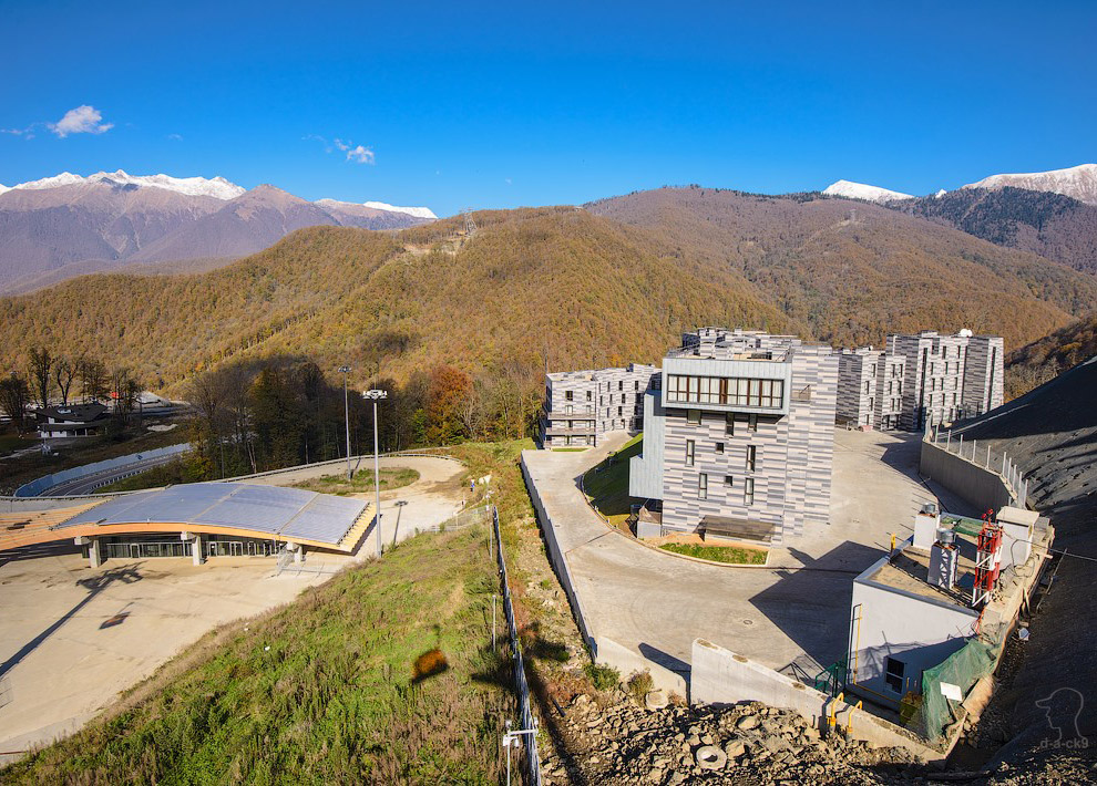 Вид на Олимийскую деревню