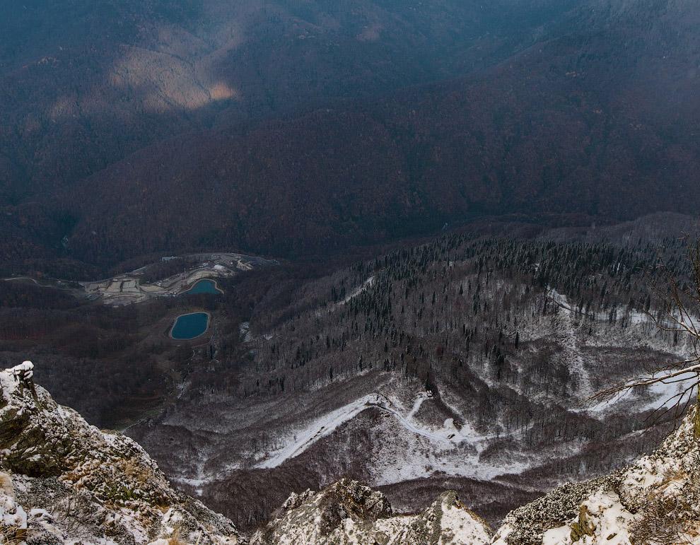 Вид на горнолыжный центр