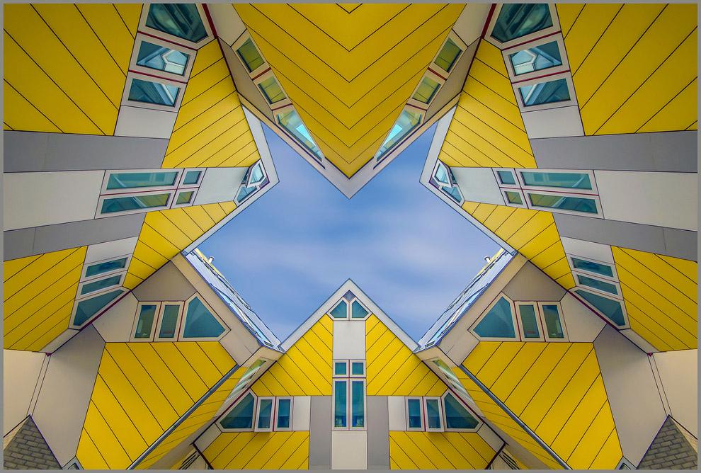 Инновационные дома в Нидерландах,построенные по проекту архитектора Пита Блома
