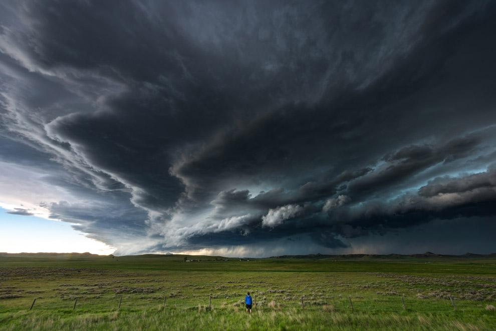Майк ожидании бури, штат Вайоминг
