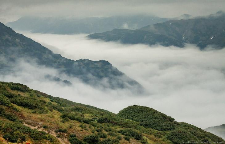 Вулкан Горелый на Камчатке