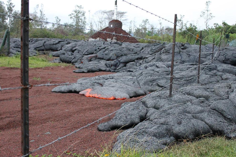 Лава из вулкана Килауэа, Гавайи