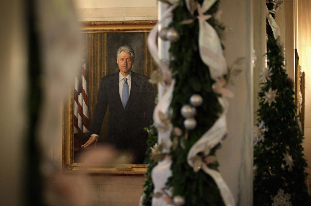 Портрет экс-президента США Билла Клинтона
